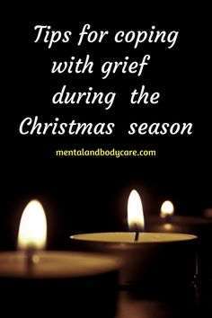 Here are 5 tips that will help you to cope with your #grief during these #holidays. #Christmas