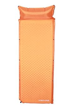 Ultra Lightweight Self Inflating Sleeping Pad with attached Pillow  Built for Backpacking Camping Hiking Hammocks Tents and More Orange >>> To view further for this item, visit the image link.Note:It is affiliate link to Amazon.