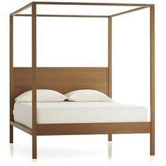 Crate & Barrel Osborn Queen 4-Poster Bed