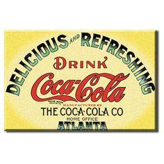 Yellow Keg Label Coca-Cola Magnet