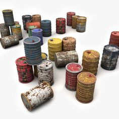 Metal Barrels Painted Collection Model available on Turbo Squid, the world's leading provider of digital models for visualization, films, television, and games. Oil Barrel, Metal Barrel, Warhammer Paint, Low Poly Models, World Crafts, Model Cars Kits, Driftwood Crafts, Conceptual Design, Polymer Clay Art