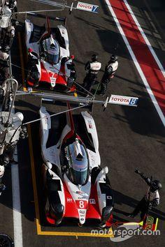 #8 Toyota Gazoo Racing Toyota TS050: Sébastien Buemi, Kazuki Nakajima, Fernando Alonso, in the pit lane