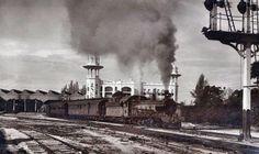 Steam train at Kuala Lumpur railway station c. 1915