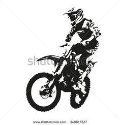 Find Motocross Rider Motor Vector Silhouette stock images in HD and millions of other royalty-free stock photos, illustrations and vectors in the Shutterstock collection. Dirt Bike Tattoo, Motocross Tattoo, Motocross Logo, Motocross Riders, Plotter Silhouette Cameo, Monster Energy Supercross, Geometric Mountain Tattoo, Bike Drawing, Biker Tattoos
