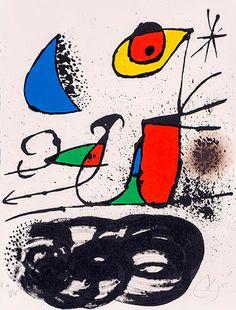 Joan Miró Litografía, Le monde de l'art n'est pas le monde du pardon a la venta Max Ernst, Wassily Kandinsky, Dale Chihuly, Pablo Picasso, Abstract Expressionism, Abstract Art, Joan Miro Paintings, Spanish Painters, Painting For Kids