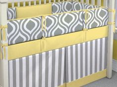 Grey And Yellow Baby Bedding Mod Bird 9 Pc Crib Set Click To Mims Pinterest Sets