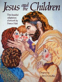 Jesus And The Children By Jean D. Crowther Vintage Cross Stitch by NeedANeedle, $4.75