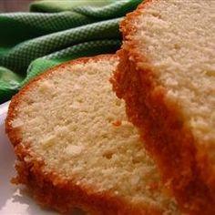 Coconut oil pound cake recipe