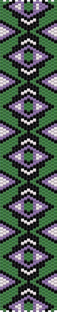 10 схем мозаичных браслетов / 10 free peyote patterns | - Схемы для…