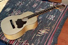 Folk guitar musical instrument