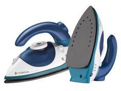 Ferro de Passar a Vapor Cadence Power Compact - Branco e Azul Base Antiderrapante