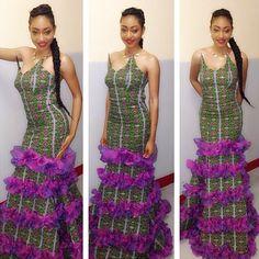 Lovely ruffles #Africanfashion #AfricanClothing #Africanprints #Ethnicprints #Africangirls #africanTradition #BeautifulAfricanGirls #AfricanStyle #AfricanBeads #Gele #Kente #Ankara #Nigerianfashion #Ghanaianfashion #Kenyanfashion #Burundifashion #senegalesefashion #Swahilifashion DK