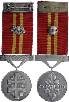 SLOVAKIA - Medal for the Victory Cross. 6th Class...