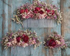 Summer Haze Dried Flower Hair Comb - Our handmade dried flower hair combs are a great alternative for creating a wild bohemian look for - Small Flowers, Flowers In Hair, Dried Flowers, Wedding Flowers, Bridal Comb, Hair Comb Wedding, Bridal Headpieces, Fascinators, Wedding Veils