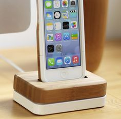 Grovemade's Bamboo iPhone Case and Dock go together like peanut butter and jelly.