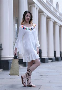 Asun+Tassel+Dress