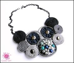 Zipper necklace Made by Sanita Fijan