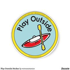 Play Outside Sticker