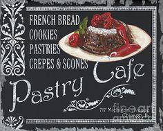 Pastry Cafe Print By Debbie Dewitt