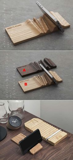 Portable Wooden Cell Phone Holder: