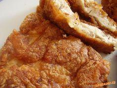 Voňavé a křehké řízečky Pork Recipes, Snack Recipes, Cooking Recipes, Snacks, Czech Recipes, Food 52, French Toast, Bacon, Menu
