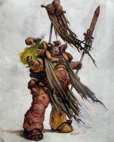 """Art of Warhammer on Instagram: """"Amazing hand-drawn plague marine by Karl Kopinski @karlkopinski  #warhammer40k #gamesworkshop #战锤 #战锤40000 #warhammerart #art #concept…"""""""