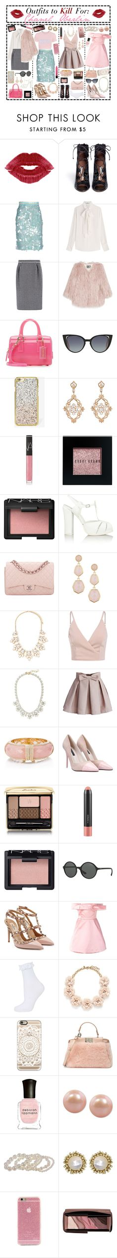 """- ̗̀ Outfits to Kill For: Chanel Oberlin  ̖́-"" by i-get-a-little-bit-breathless ❤ liked on Polyvore featuring Tabitha Simmons, Daizy Shely, Valentino, MaxMara, Pam & Gela, Furla, Fendi, Skinnydip, Sara Weinstock and NARS Cosmetics"