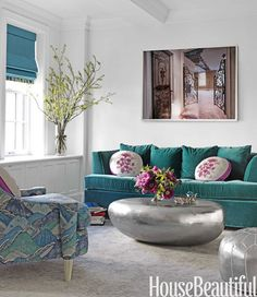 House Beautiful   Teal Color