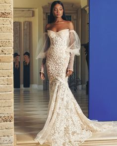 Unique & Hot: 27 Sexy Wedding Dresses Ideas ❤ sexy wedding dresses ideas fit and flare with sleeves off the shoulder galia lahav #weddingforward #wedding #bride #weddingoutfit #bridaloutfit #weddinggown