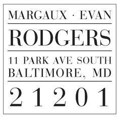Return Address Stamp | Style #34 — Haute Papier Address Stamp, Addressing Envelopes, Ink Pads, Return Address, Organization, Sweet, Style, Getting Organized, Candy
