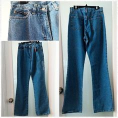 "Deadstock vintage 1990s denim flares, made in Italy.  Original tags attached.  28"" waist."