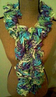 Crochet Ruffle Scarf - Starbella 'Wild Hydrangeas'