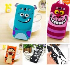 3D Cartoon Slinky Dog Tiger Monsters Inc. Sulley Zebra Cat Soft Silicone Rubber Cases Covers for Samsung Galaxy A7 A3 A5 J1 J5 J7 Phone Cases