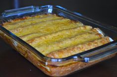 One Day At A Time - From My Kitchen To Yours: Bean and Cheese Smothered Enchiladas