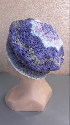 ea6c4eaf215 Items similar to Crocheted Cotton Hat Summer Chemo Hat Cotton Chemo Hat  Crochet hat Cotton crochet hat Slouchy hat on Etsy