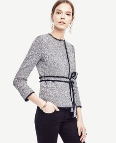 c914eba92eac Image of Belted Tweed Jacket Tweed Jacket, Tweed Blazer, Office Attire,  Work Fashion
