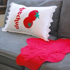 Ketchup Pillow - Lincoln would love this!