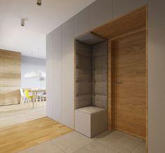 adelaparvu.com despre 30 solutii pentru separarea usii de la intrare, hol creat cu mobila si paravane, Foto 081architekci