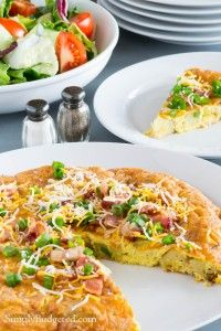 Loaded Baked Potato Frittata--GIVEAWAY