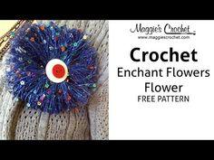 Enchant Flowers Flower Free Crochet Pattern - Right Handed - YouTube