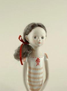 SALE. Original price 250. OOAK Handmade Doll with Miniature Book via Etsy