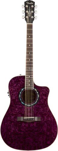 Fender T-Bucket 300 CE Dreadnought Cutaway Acoustic-Electric Guitar - Transparent Violet