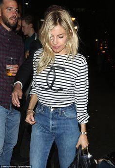 Sienna Miller is chic as she leaves Cat On A Hot Tin Roof | Daily Mail Online