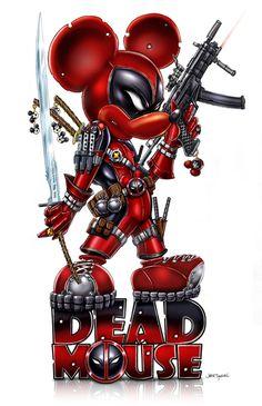 #Deadpool #Fan #Art. (Deadmouse) By: Jamie Tyndall. (THE * 5 * STÅR * ÅWARD * OF: * AW YEAH, IT'S MAJOR ÅWESOMENESS!!!™) ÅÅÅ+