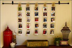 Super cute idea using pictures in home decor.