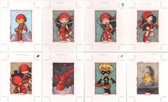 marvel 70th anniversary cards8  by ~katiecookie