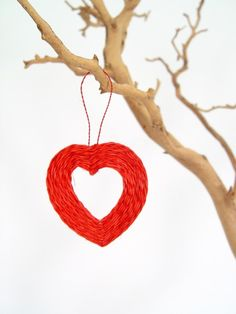 Handmade sisal heart ornament | from Swaziland. $7