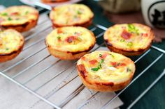 Mini Quiches: These mini quiches makes perfect party food that everyone can just pick up and savor as a finger food, for the holiday parties. #holidays #egg #pastry