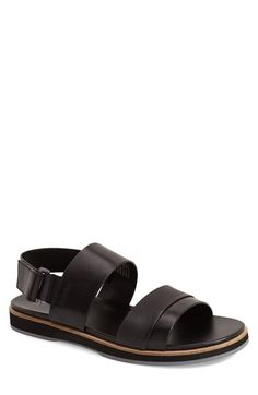 CALVIN KLEIN 'Dex' Embossed Leather Sandal (Men). #calvinklein #shoes #sandals