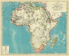 Old map of Africa  Giclee print   Archival by AncientShades